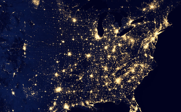 World view at night