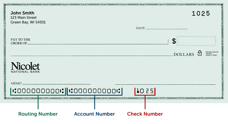 Routing Number | Nicolet National Bank