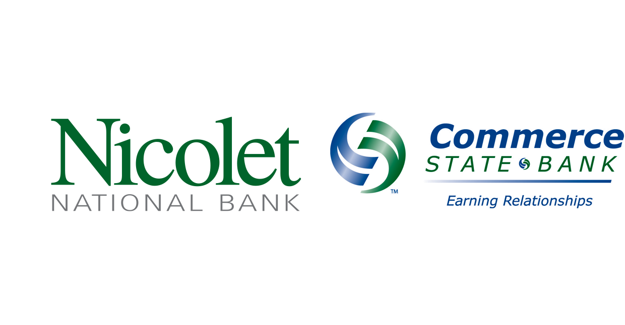 Nicolet National Bank and Commerce State Bank logos